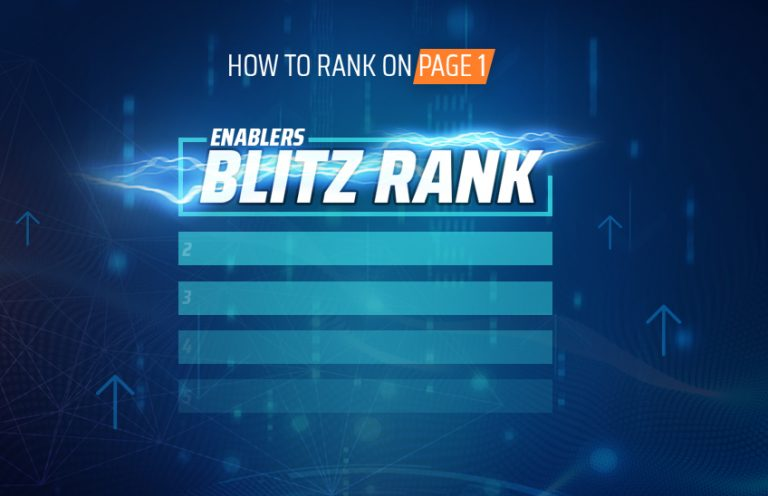 ENABLERS BLITZ RANK [EBR] – HOW TO RANK AMAZON PRODUCT ON PAGE 1